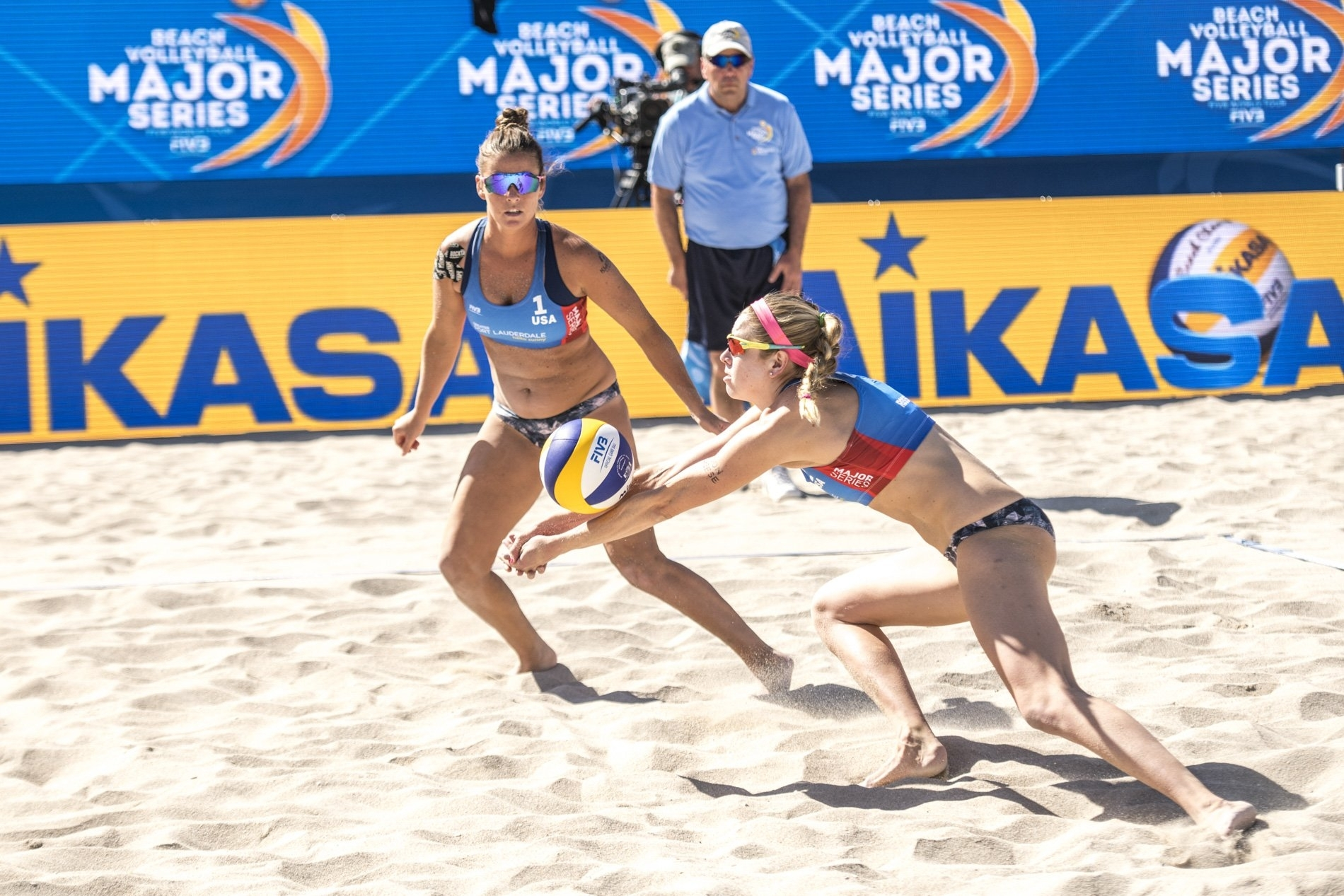 Brooke and Summer are on the podium for the USA on home sand!