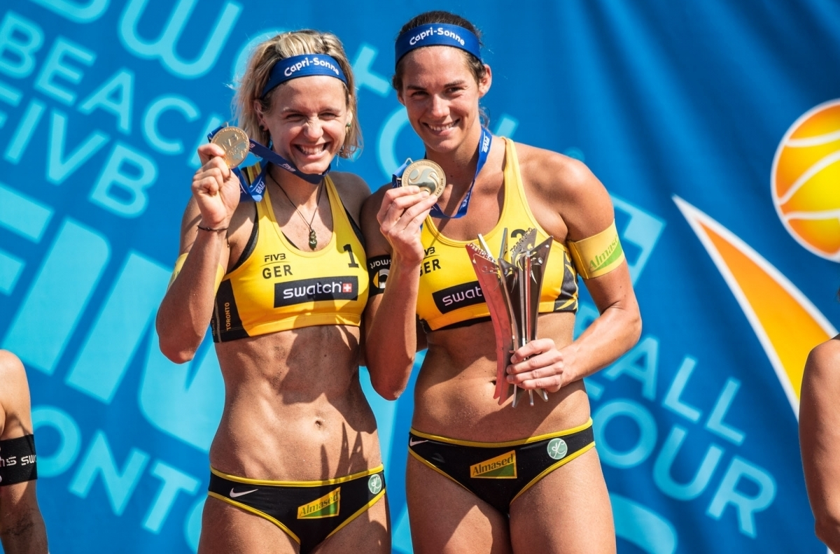 Kira and Laura celebrate their World Tour Finals victory in Toronto - but they will not be together for the season starter in Florida. Photocredit: Joerg Mitter.