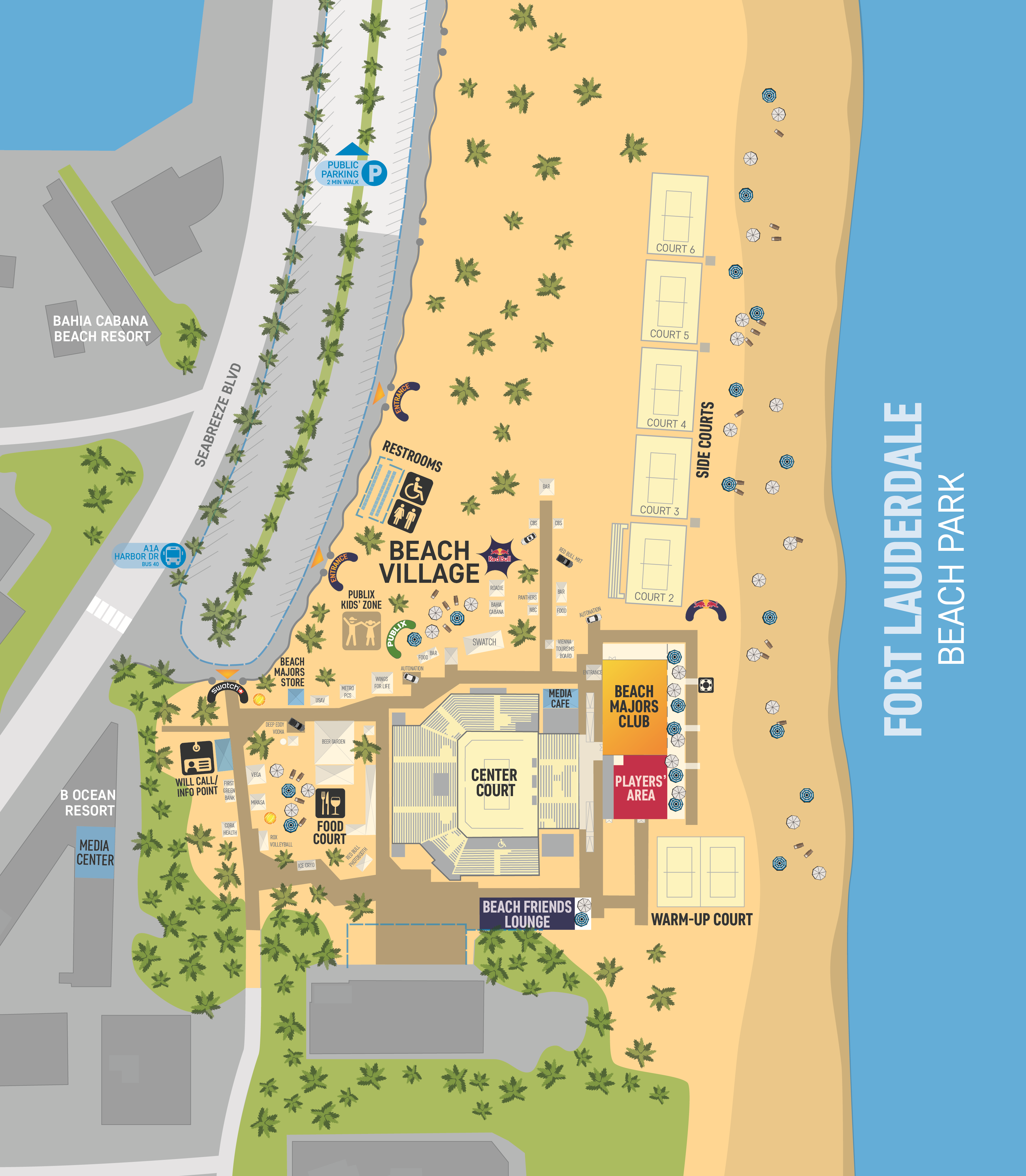 Fort Lauderdale Major Event Map