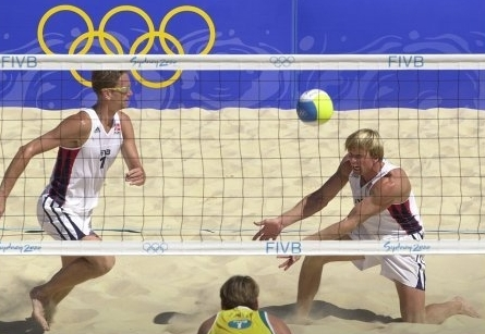 Jan and Björn in action at the Olympics in Sydney