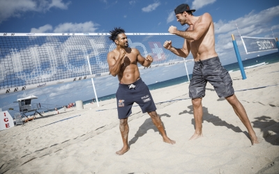 Big fight prep at the beach for David Haye