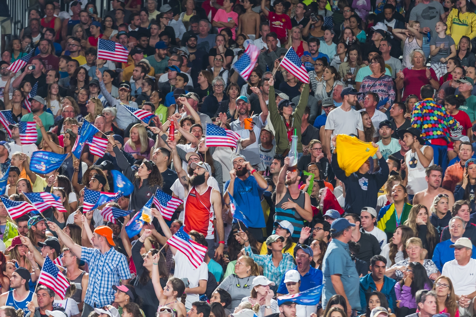 The US fans were in great voice throughout the tournament. Photocredit: Martin Steinthaler.