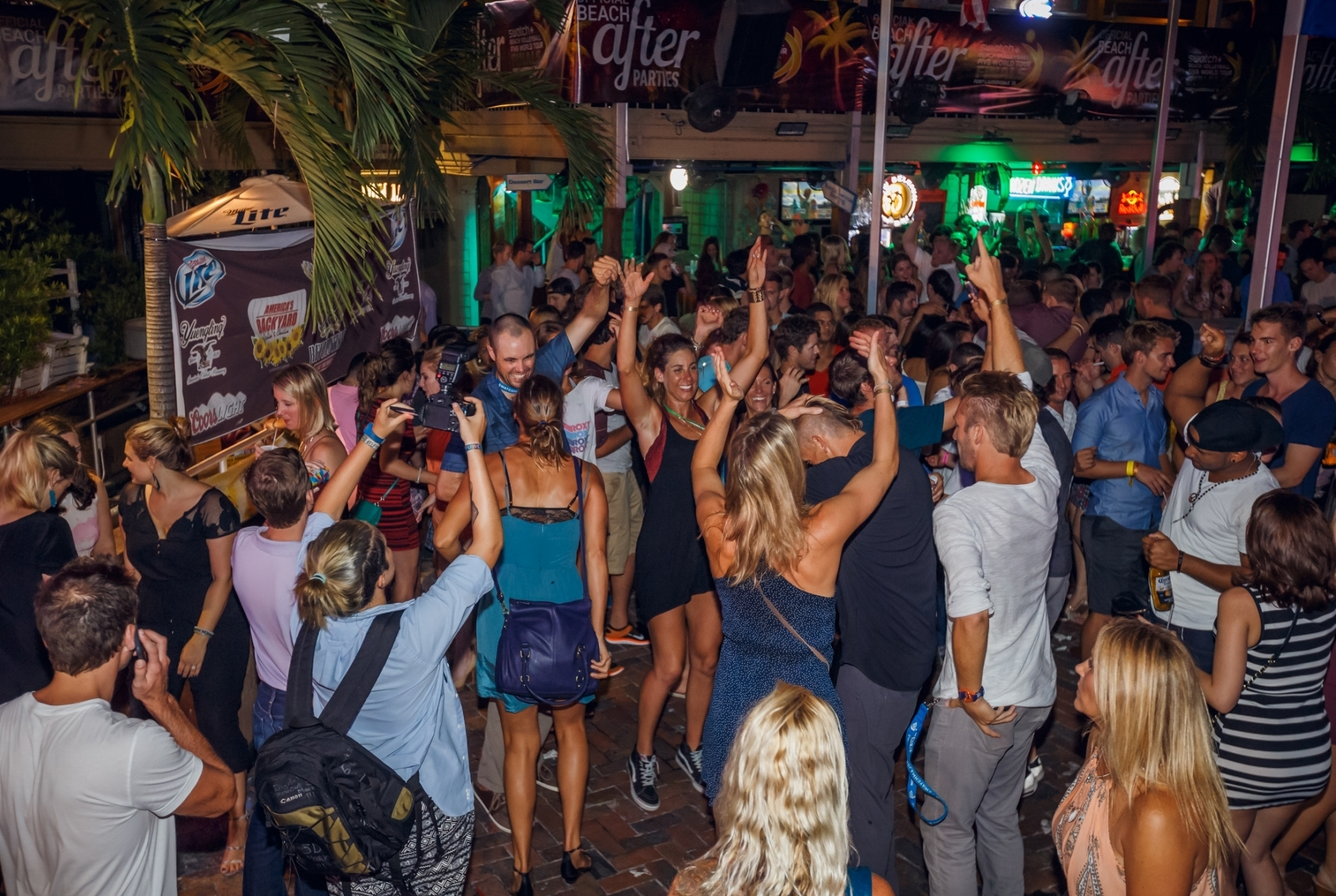 Come and party with the stars once the sun goes down at our official Beach Party Nights.