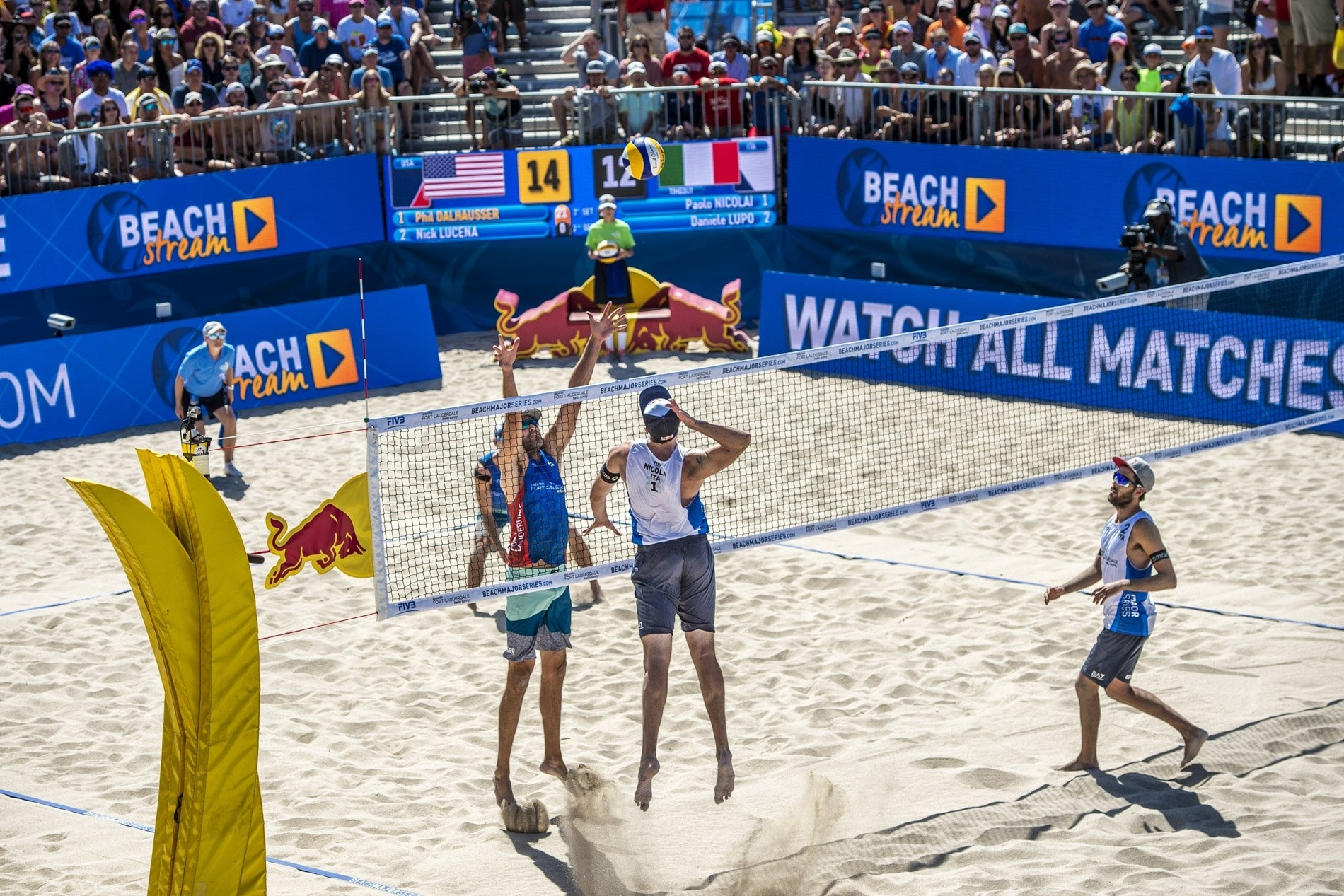 The Americans did not drop a set on their way to lifting the title on home sand