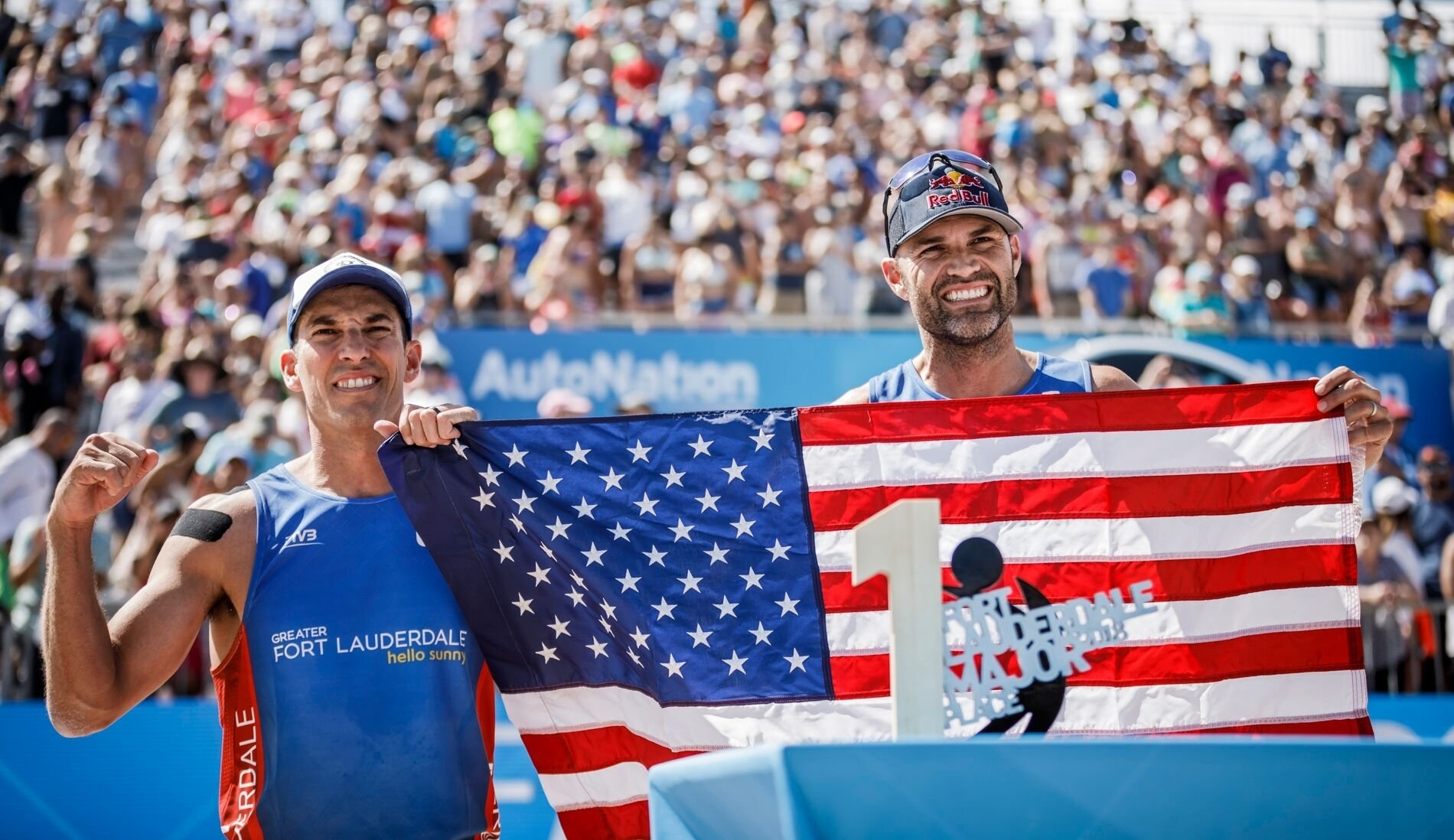 Fort Lauderdale Champions at last: Nick Lucena (left) and Phil Dalhausser