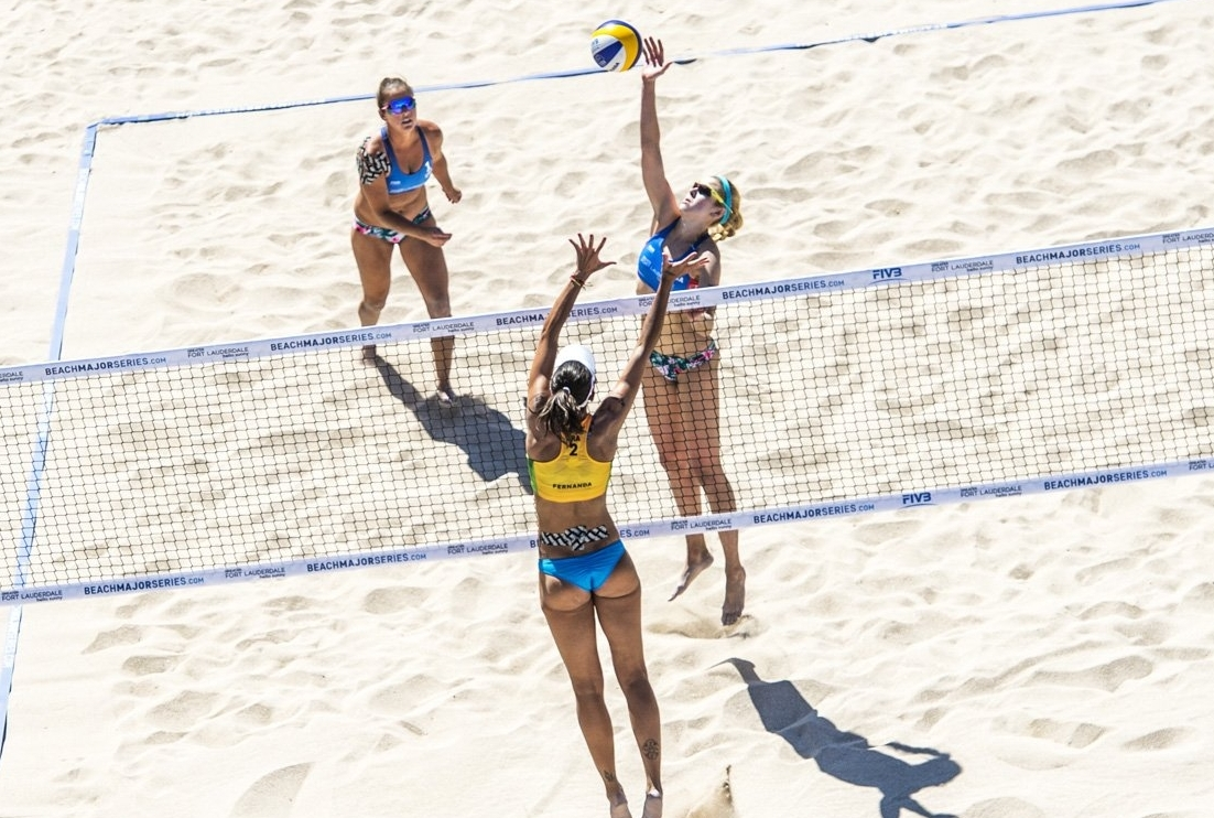 Summer (attacking the net) was one of the leading lights at the Fort Lauderdale Major