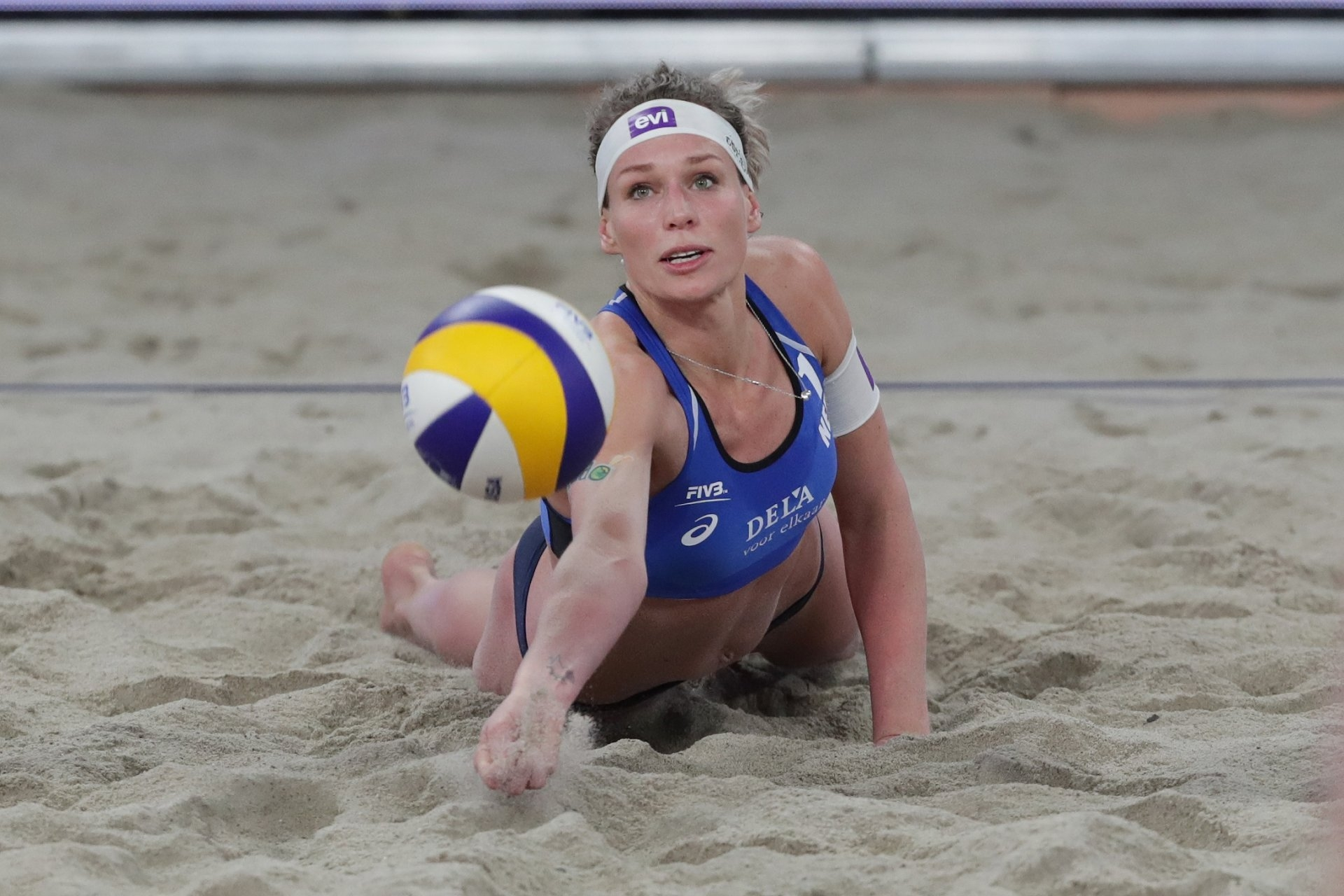 Sanne Keizer will debut in the Beach Major Series in Fort Lauderdale (Photocredit: FIVB)