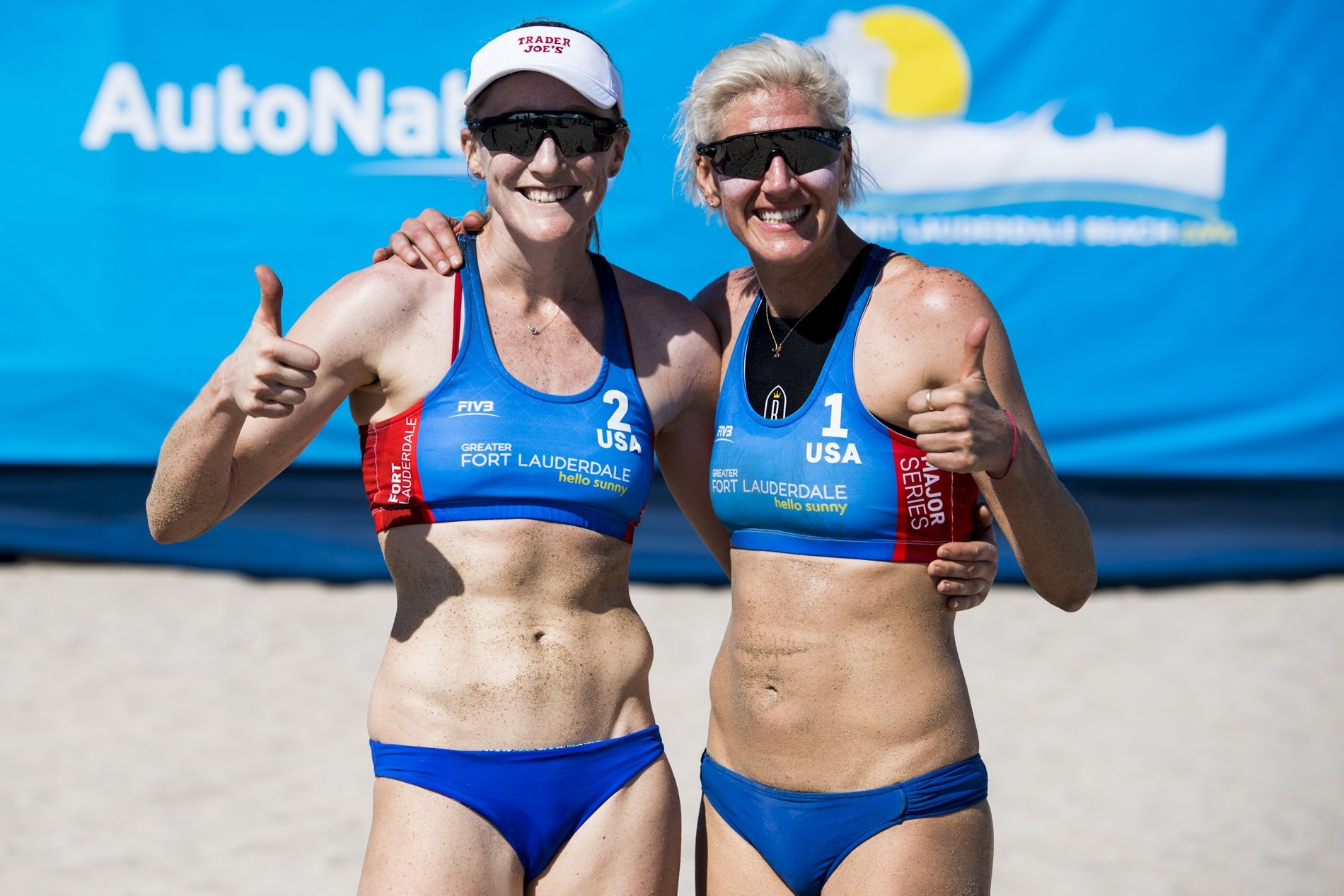 Brittany Hochevar and Emily are one of the eight women's teams qualified to the main draw in the Fort Lauderdale Major