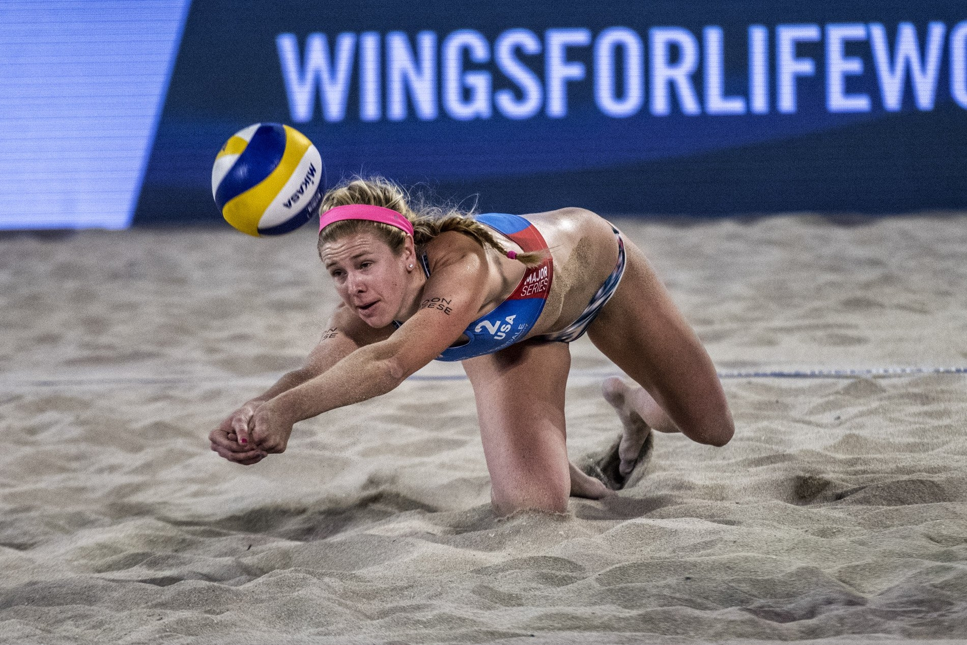 Summer Ross dominated the net against the Brazilians (Photocredit: FIVB)