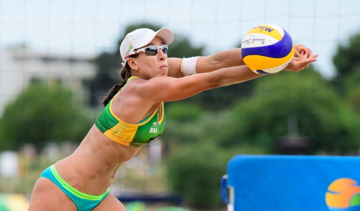 Taiana Lima and her temporary partner Carol Horta prevailed in the Brazilian country-quota (Photocredit: FIVB)