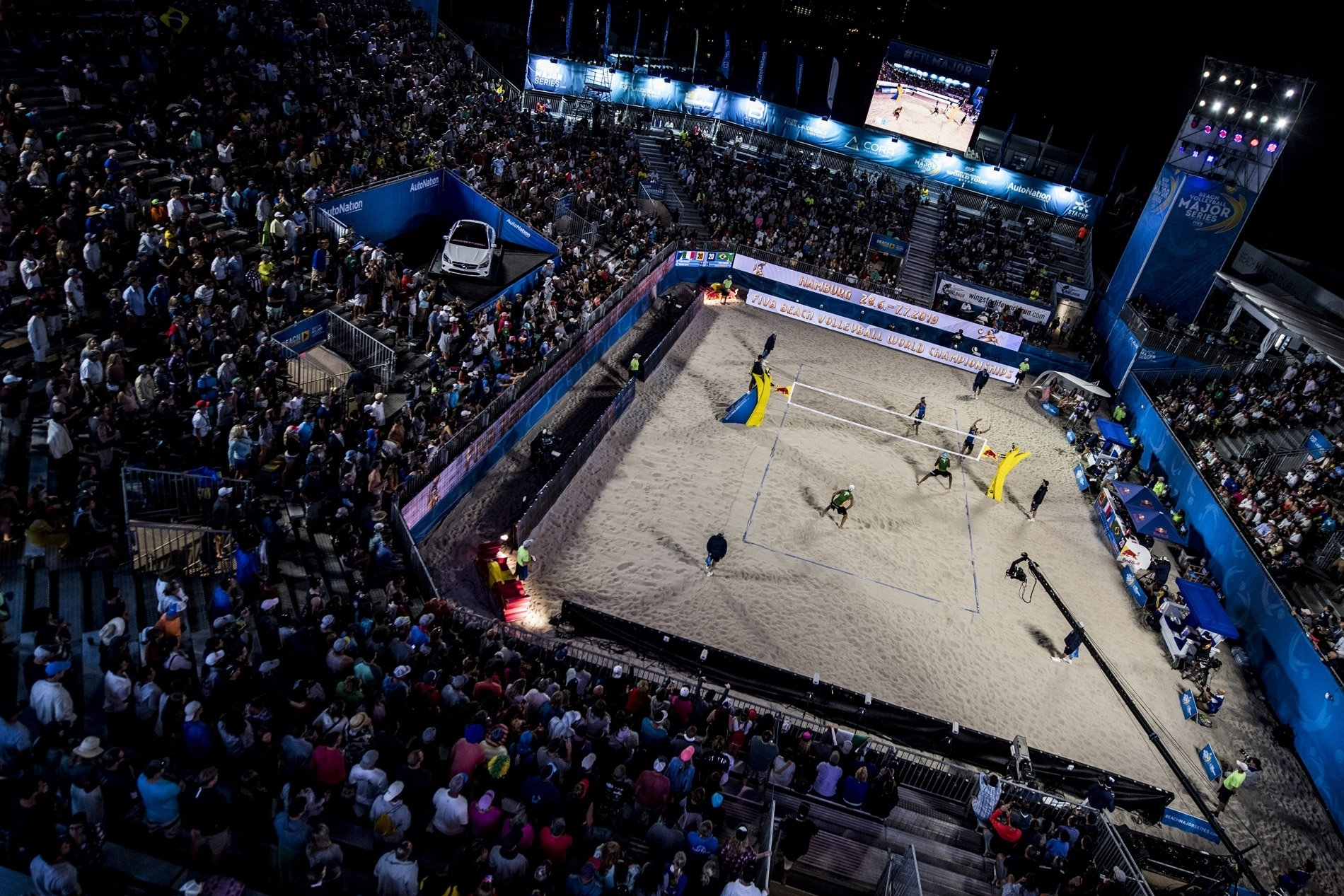 The Red Bull Beach Arena was full to see the Italians reach the final